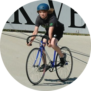 youth rides at Hellyer Velodrome