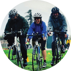 Cyclists at Tempo Endurance cycling skills clinic